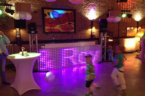 Bruiloft.DJ LED DJ Booth Biesenhof theater Geleen